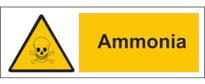 Ammonia warning sign
