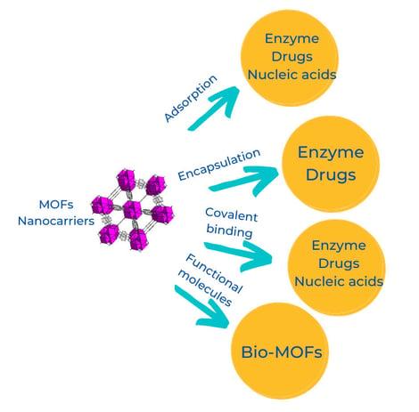 MOFs nanocarrier strategies