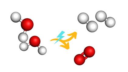 Water splitting to form hydrogen